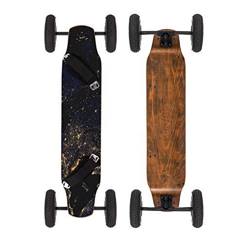 Moracle MountainBoard 99cm Skateboard Longboard 4 Ruedas Monopatín con Rodamiento de Patineta ABEC-9 Niños y Adultos (Tierra)