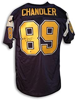 Autographed Wes Chandler San Diego Chargers Throwback Jersey Inscribed
