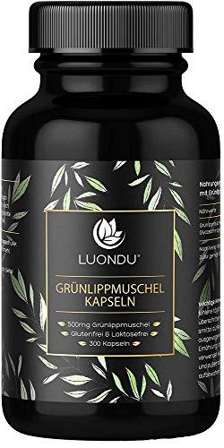 Grünlippmuschel Kapseln 300 Kapseln 500mg Hochdosiert Grünlippmuschelextrakt für Menschen & Glycosaminoglykane - 100% Grünlippmuschelpulver Kultiviert in Neuseeland