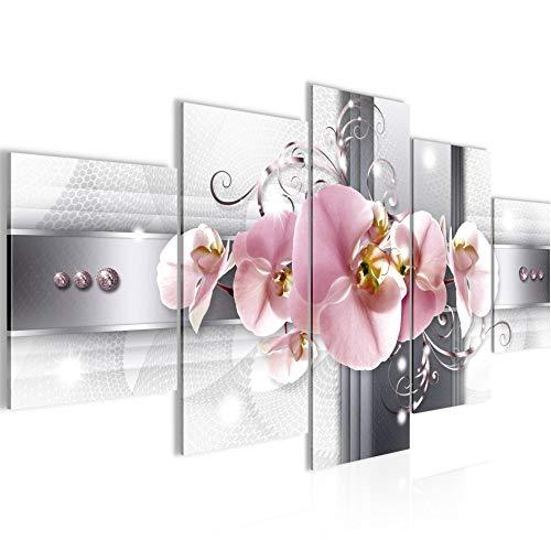 Bilder Blumen Orchideen Wandbild 150 x 75 cm Vlies - Leinwand Bild XXL Format Wandbilder Wohnung Deko Kunstdrucke - MADE IN GERMANY - Fertig zum Aufhängen 008353a