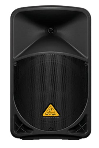 "Behringer Eurolive B112D Active 2-Way 12"" PA Speaker System with Wireless Option and Integrated Mixer,Black"