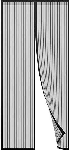 terraza color negro fowong Mosquitera magn/ética para puerta 90 x 210 cm montaje adhesivo sin agujeros sal/ón para puerta de balc/ón con cierre magn/ético