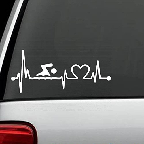 adesivo murale Border Collie Heartbeat Lifeline Monitor Dog Decal Sticker Die Cut Decal Sticker For Windows, Cars, Trucks, Laptops, Etc (7.5 x 3.2 inches)