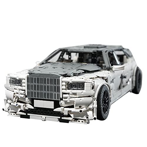 Dellia Bloques de construcción de coche para Rolls-Royce Phantom VIII EWB, 4019 piezas, MOC-74084, sistema de construcción de piezas compatibles con Lego