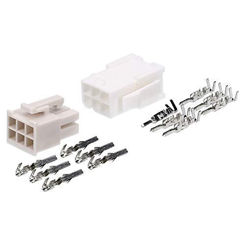 Molex Mini-Fit Jr. Steckverbinder-Set 6 polig für PC-Komponenten Kali-2406 I Industriequalität vom deutschen Händler