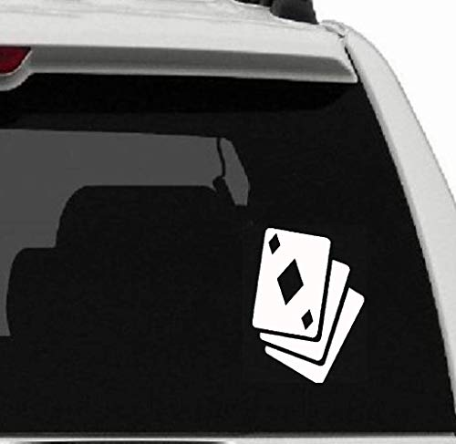9,8 x 12,5 cm Poker Kaarten geluksspel decor auto sticker grafisch voor auto laptop venster sticker