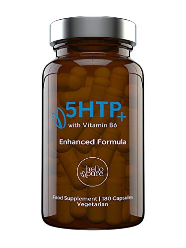 5HTP +Plus | Ultra High Strength 5HTP 400mg Vegan Griffonia Seed Extract Equivalent | 6 Month Supply | Highest Absorption 5 HTP Capsules Not Inferior 5-HTP Tablets | Stress Anxiety & Melatonin Balance