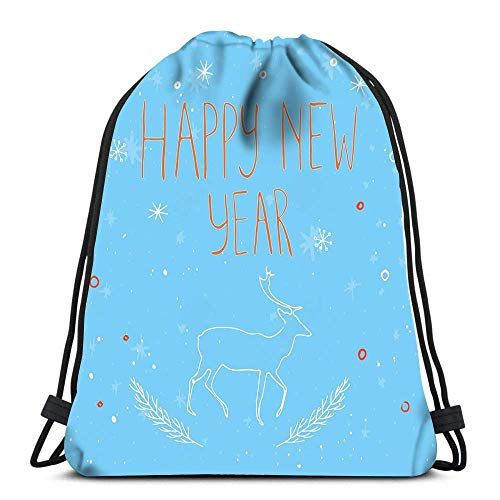 Lsjuee Zaino con coulisse Zaino California Miami Summer Soft Polyester Gym Backpack