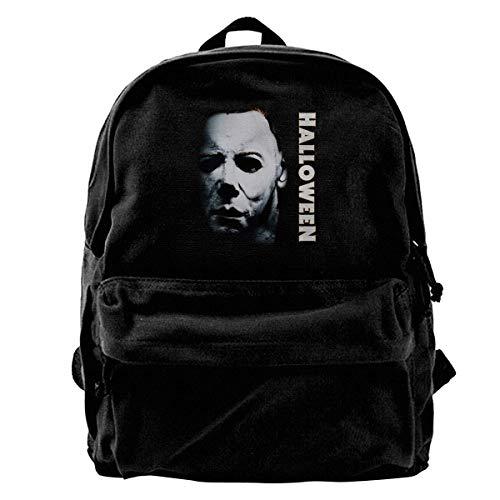 Canvas Rucksack Halloween Michael Myers Rucksack Gym Wandern Laptop Schultertasche Daypack für Männer Frauen