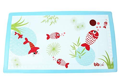 BBCare Tapis de bain antidérapant pour bébé avec Témoin de Température - Poisson_Rouge (40*70cm)
