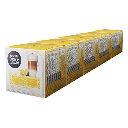 Nescafé Dolce Gusto Latte Macchiato Vanilla, Kaffee, Kaffeekapsel, 5er Pack, 5 x 16 Kapseln (40 Portionen)