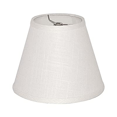 Tootoo Star Barrel White Small Lamp Shade for Table Floor Lamps Replacement, 6x10x7.5 Inch, Fabric Cloth,Spider Model (white)