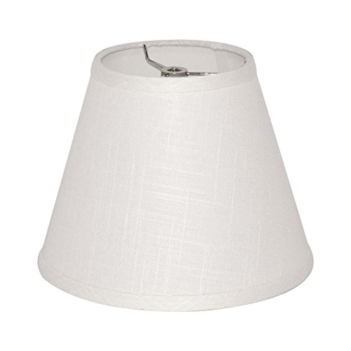 Tootoo Star Barrel White Small Lamp Shade for Table Lamps Replacement, 5x9x7 Inch,Fabric Cloth, Spider Model (white)