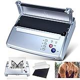 Sacnahe Tattoo Transfer Stencil Machine Copier Printer Thermal Tattoo Kit Copier Printer With Free 20pcs Tattoo Stencil Transfer Paper Silver (2021 Update Version)