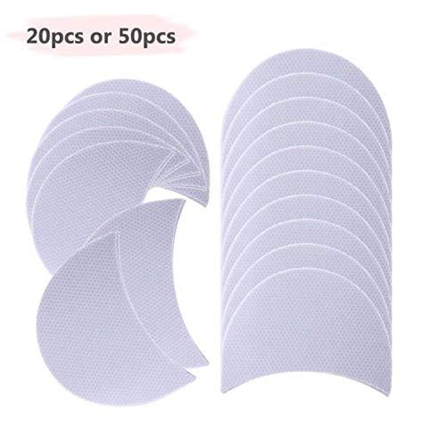 YUIO® Eye Shadow Shields Patches Cils Pad Sous Eyeliner Ailé Autocollants Maquillage Dame Femmes Cosmétiques Papier Fard À Paupières (blanc (50pcs))