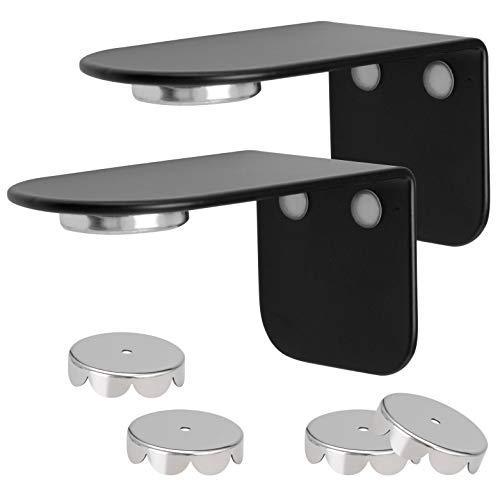 bremermann Magnet-Seifenhalter PUREZZA - frei hängende Seife durch Magnet - Kleben oder Bohren, matt schwarz, 2er-Set