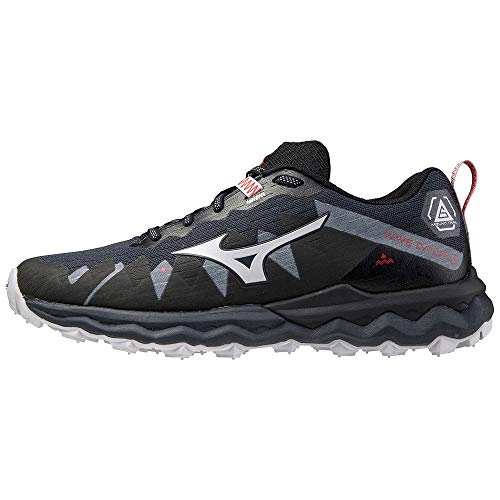 Mizuno Wave Daichi 6, Zapatillas para Carreras de montaña Mujer, Indiaink-Encendido Negro, 37 EU