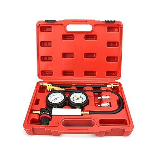 Detector de fugas de compresión de cilindro de motor de gasolina profesional, probador de compresión de fugas de cilindro Kit de herramientas del indicador del gato de prueba del motor de gasolina
