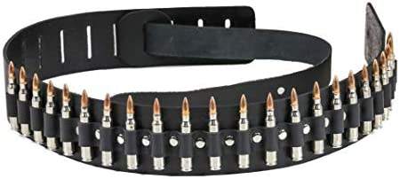 Bullet Guitar Strap 223 Caliber Real M16 Nickel Shell Copper Tips USA Made Genuine Leather product image