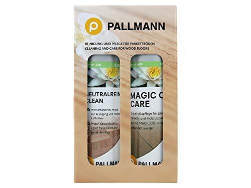 HEVO® Pallmann Vollpflege Set für geölte Parkett- und Holzfußböden - 1x Magic Oil + 1x Neutralreiniger je 750ml
