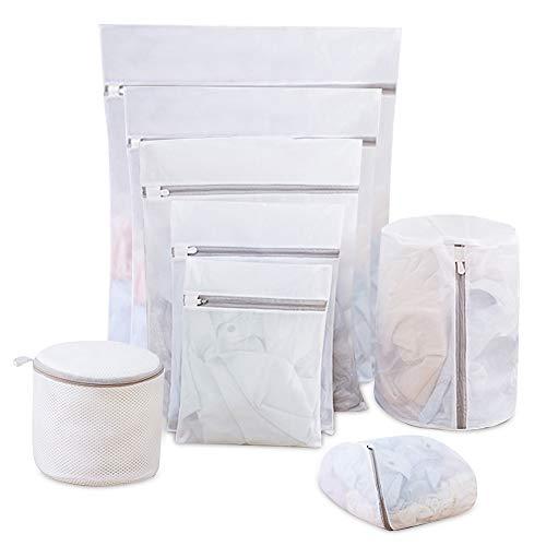Wäschenetz für Waschmaschine, 8 Wäschesack für Haltbarer Netz- mit Reißverschlus, Wäschebeutel für Blusen BHS Strumpfwaren Unterwäsche Dessous und Babykleidung