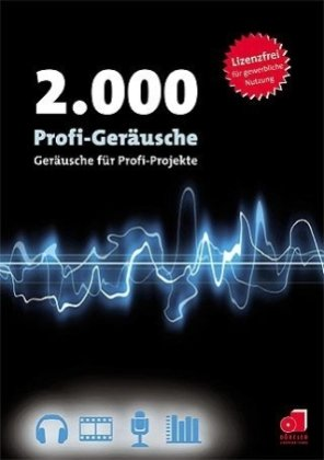 2.000 Profi-Geräusche, CD-ROM Geräusche für Profi-Projekte. MP3 unterstützende Software