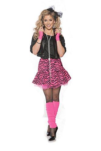 Underwraps Rockin' The 80's Valley Girl Costume - Pink, Medium