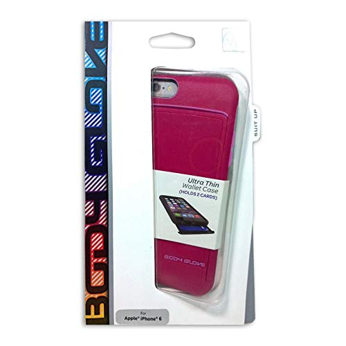 Body Glove Satin Hideout Wallet Case for iPhone 6/6s - Retail Packaging (Pink)