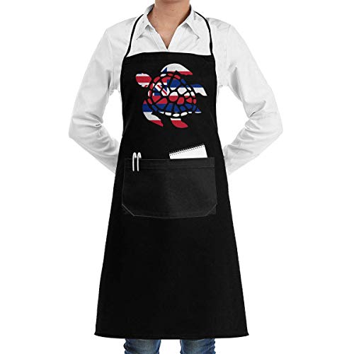 Lsjuee Flag of Hawaii Unisex Aprons for Women Men Restaurant Bar Apron Apron Pockets