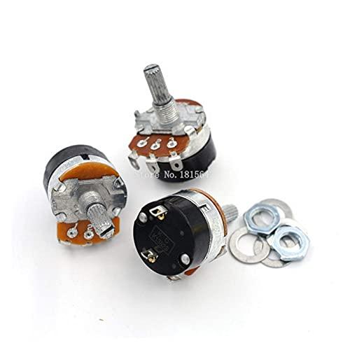 Potenciómetro 5 unidades WH138-1 regulador de velocidad de resistencia ajustable con potenciómetro de interruptor WH138-1 B5K B10K B20K B50K B100K B250K B500K (resistencia: 250K OHM) (tamaño: 10K Ohm)