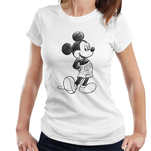 Disney Mickey Mouse Sketch Drawing Women's T-Shirt