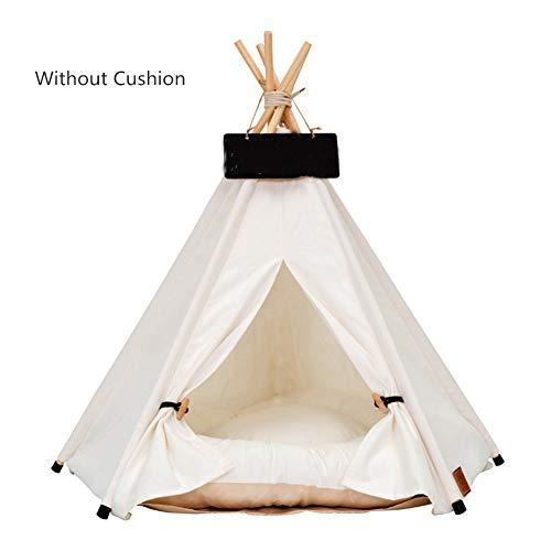 Ruick Pet Indisches Tipi-Zelt aus Baumwolle für Katzen und Hunde