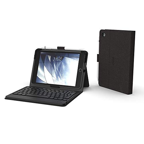ZAGG Messenger Folio - Bluetooth Tablet Keyboard - Non-Backlit - Made for Apple iPad Mini 5 (7.9') – Charcoal