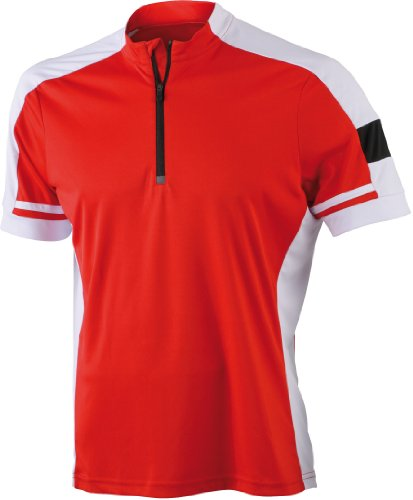 JAMES NICHOLSON - Maillot Cycliste vélo VTT 1/2 Zip -...