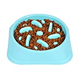 WERFORU Slow Eating Dog Feeder Bowl for puppies/medium-sized dogs, No...
