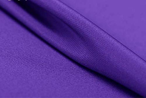 100% Silk Fabric Crepe de Chine 12m/m Thick 45' Width (Purple)