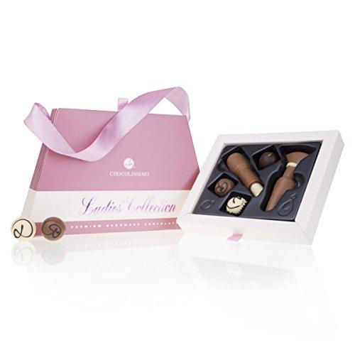 Chique Deluxe - Pralinen und Schmink-Set aus Schokolade | Geschenk für Frau | Muttertag | Schokoladenhandtasche | lustige Geschenke für Frauen | Mama | Valentinstag | Geburtstag