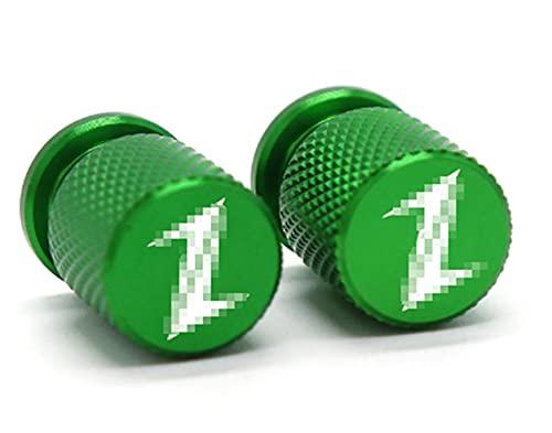 ZhengFeng Shop Válvula de neumáticos de la motocicleta Puerto de aire Tapa de vástago Cap Plug CNC Accesorios de aluminio Ajuste para Kawasaki Z400 Z800 Z900 Z650 Z1000 Universal ( Color : Green )