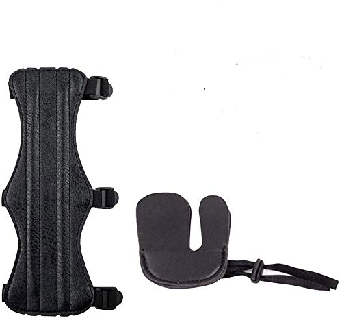 SGerste - Juego de protectores de brazo para tiro con arco, color negro