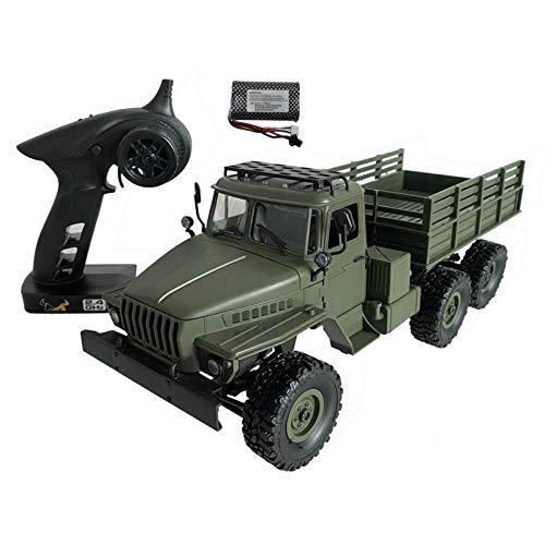 2.4GHz Ferngesteuertes LKW Auto 1:16 6WD Off-Road Militär Army Truck Mit LED-Licht, Offroad Crawler Fahrzeug Spielzeug Geschenk Für Kinder Erwachsene, Höchstgeschwindigkeit: 15-20 Km/H