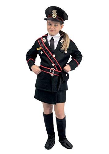 Ciao Carabiniere Costume Bambina, Nero, 9-11 anni
