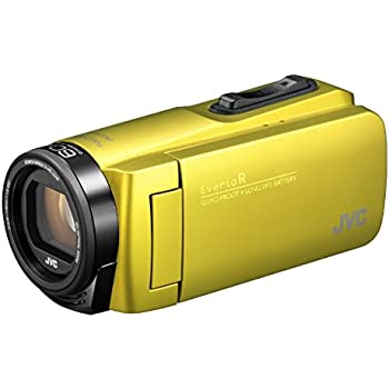 JVCKENWOOD JVC ビデオカメラ Everio R 防水 防塵 32GB内蔵メモリー シトロンイエロー GZ-R480-Y