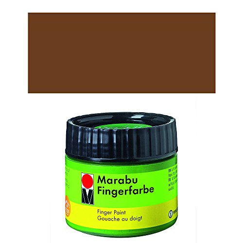 Marabu 30250285 Fingerfarbe, braun, 100 ml, in Kunststoffdose