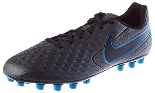 Nike Unisex-Erwachsene Legend 8 Academy Artificial Grass Fußballschuhe, Mehrfarbig (Black/Black-Blue Hero 4), 45.5 EU