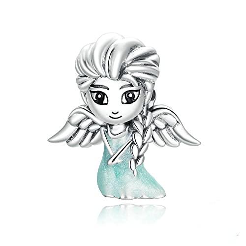 LIJIAN DIY 925 Sterling Jewelry Charm Beads Snow Fairy Platinum Fine Make Original Pandora Collares Pulseras Y Tobilleras Regalos para Mujeres