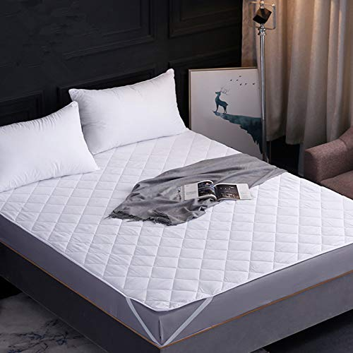 haiba Soft Mattress Topper Protector Microfibre Double Filled Quilted & Elasticated Corner Straps
