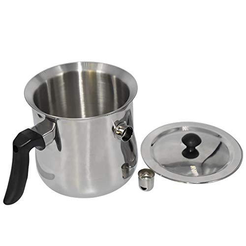 Bee Wax Melting Pot Stainless Steel Pot Candle Melting Pot Beekeeping Tool Double Boiler Heat-Resistant Handle Designed Pitcher for Making Candles Soap Chocolate