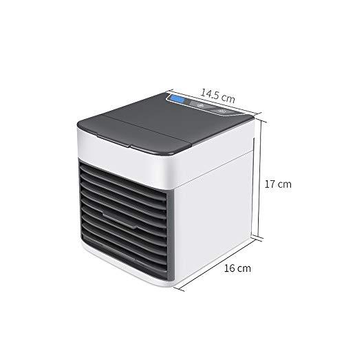 Hangende nekventilator Draagbare ventilator Mini USB Luchtkoeler Draagbare Airco Luchtbevochtiger Luchtzuiverer 7 Kleur Lichten Desktop Luchtkoeling Ventilator Luchtkoeler Ventilator Voor Kantoorventilator (Kleur : Luchtkoeler)