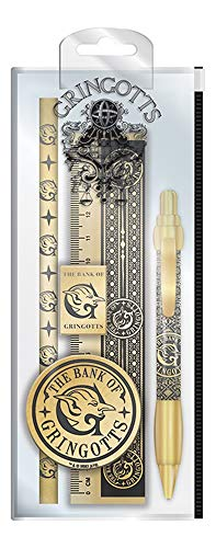 Set di cancelleria Harry Potter, con penna, matita, righello, temperamatite e gomma per cancellare