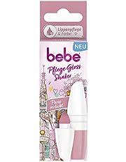 bebe Care Gloss Shaker Paris verliefd lippenverzorging, lippenverzorgingsstift met een romantische rosaton voor natuurlijk mooie en soepele lippen (1 x 5 ml)